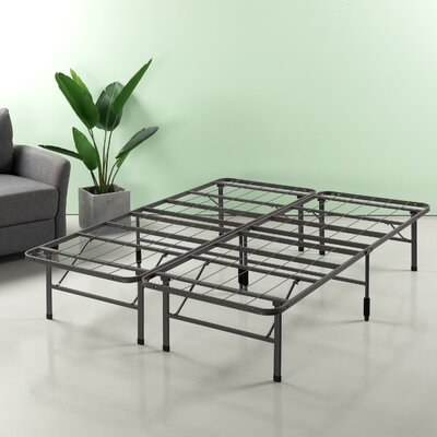 Helmuth Regular Bed Frame Size: 14 H x 60 W x 80 D, Color: Gray