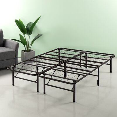 Helmuth Regular Bed Frame Size: 14 H x 60 W x 80 D, Color: Brown