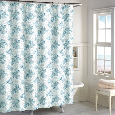 Helmick Cotton Shower Curtain Color: Blue
