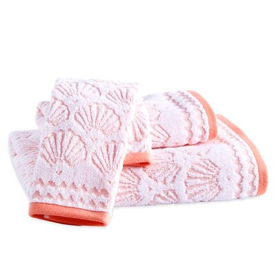 Junhee Shells Fingertip Towel Color: Coral