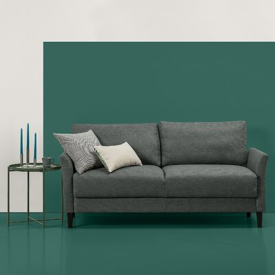 Helvey Sofa Upholstery: Green