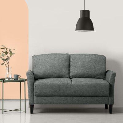 Helton Loveseat Upholstery: Green