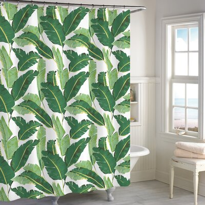Cheswold Leaf Cotton Shower Curtain