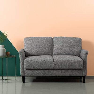 Helton Loveseat Upholstery: Light Gray