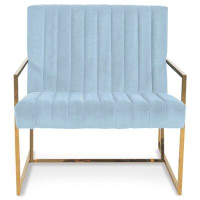 Santorini Long Tufted Armchair Upholstery: Capri Blue