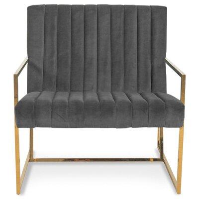 Santorini Long Tufted Armchair Upholstery: Dark Gray