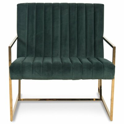 Santorini Long Tufted Armchair Upholstery: Hunter Green