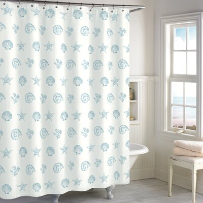 Citlali Shell Cotton Shower Curtain