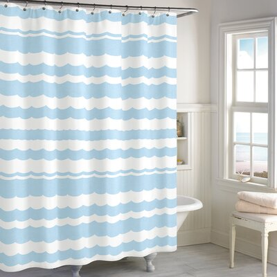Cissell Scallop Cotton Shower Curtain