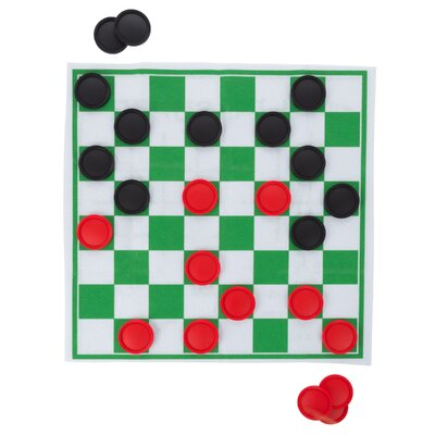 Checkers and Tic Tac Toe Reversible Giant Board Game M350073