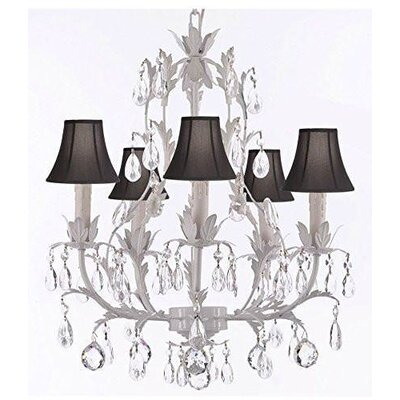 Molinari 5-Light Candle-Style Chandelier Shade Color: Black