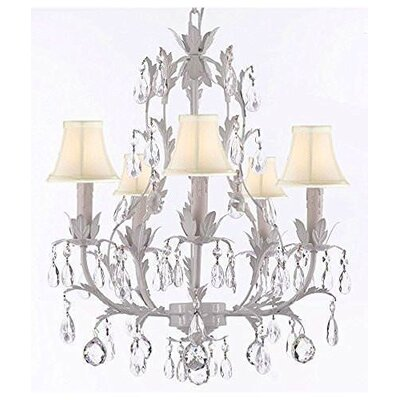 Molinari 5-Light Candle-Style Chandelier Shade Color: Cream