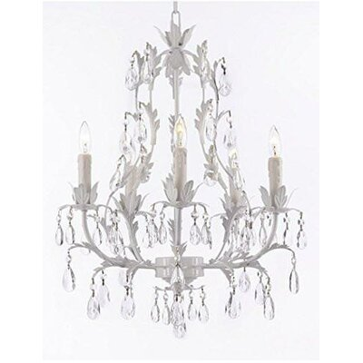 Moline Floral 5-Light Candle-Style Chandelier