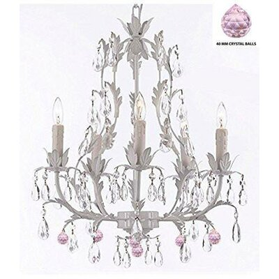 Moller Floral 5-Light Candle-Style Chandelier