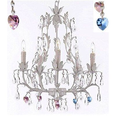 Mollica Floral 5-Light Candle-Style Chandelier