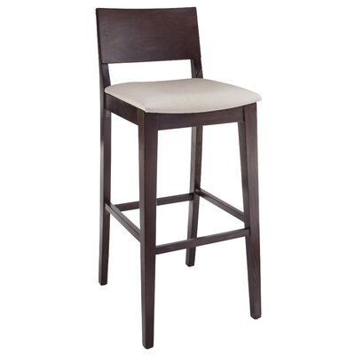 Entrekin 30 Bar Stool Frame Color/Seat Color: Walnut/Beige