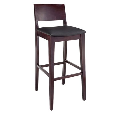 Entrekin 30 Bar Stool Frame Color/Seat Color: Dark Mahogany/Black