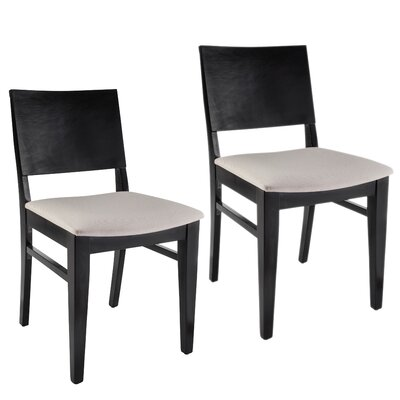 Entrekin Dining Chair Frame Color: Black, Seat Color: Cream