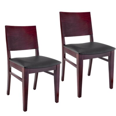 Entrekin Dining Chair Frame Color: Dark Mahogany, Seat Color: Black