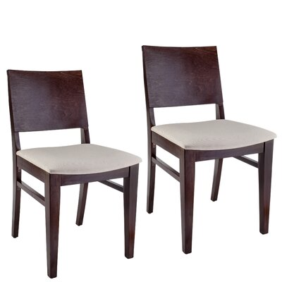 Entrekin Dining Chair Frame Color: Walnut, Seat Color: Cream
