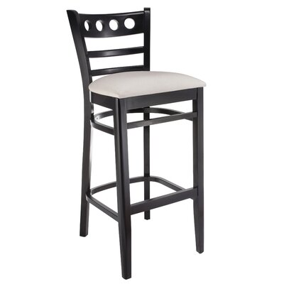 Erdman 30 Bar Stool Color: Black