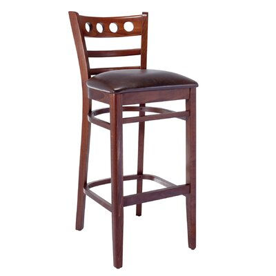 Erdman 30 Bar Stool Color: Medium Oak