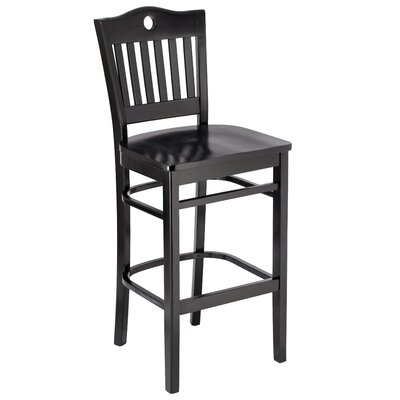 Herzig 30 Bar Stool Color: Black