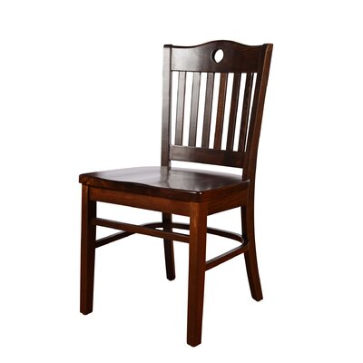 Herzig Solid Wood Dining Chair (Set of 2) Color: Walnut