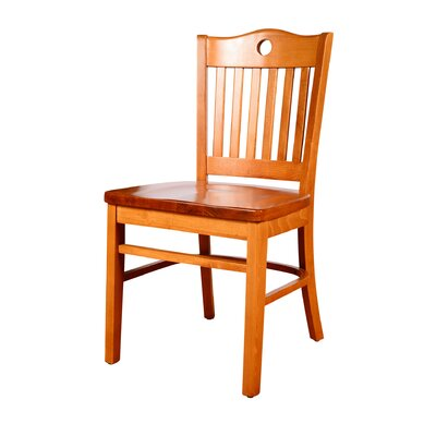Herzig Solid Wood Dining Chair (Set of 2) Color: Cherry