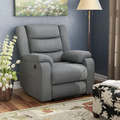 Taos Mesa Power Recliner Color: Charcoal