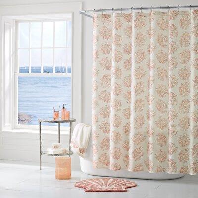 Jarosz Shower Curtain Color: Coral