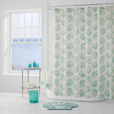 Jarosz Shower Curtain Color: Aqua