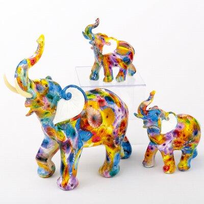 Badger Tie Dye Elephant 3 Piece Figurine Set CDE5B939C1E74B4AA0A19BE32A278CBB