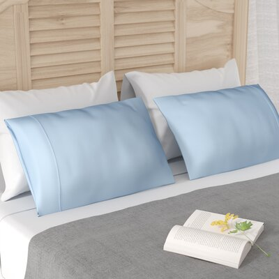 Verline Protech Performance Pillowcase Color: Blue, Size: Standard