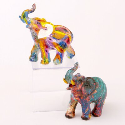Badgley Mini Elephant 2 Piece Figurine Set 88A1212A0E074B22B82286C287C7B341