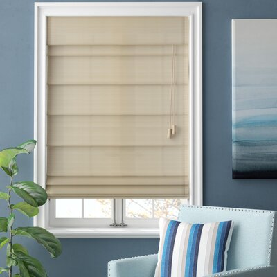 Blackout Roman Shade Size: 36 W x 72 L, Color: Dove