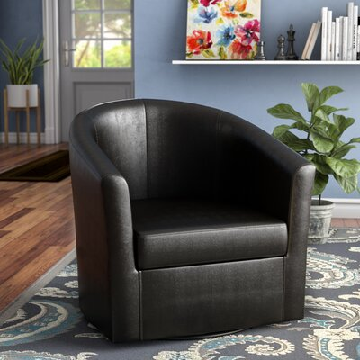 Moreland Barrel Chair Upholstery: Dark Brown