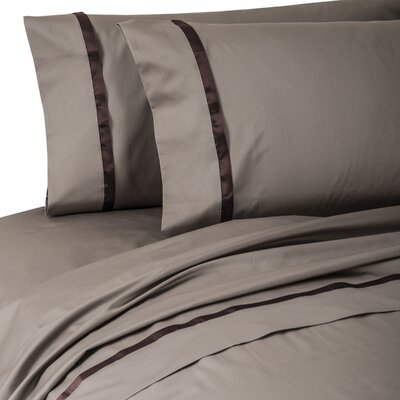 Kiley 400 Thread Count 100% Cotton Sheet Set Size: California King, Color: Coacoa/Espresso