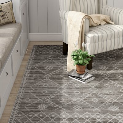 Templeton Gray Area Rug Rug Size: Rectangle 53 x 77