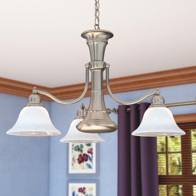 Omaha 4-Light Shaded Chandelier Finish: Brushed Nickel