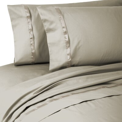 Kiley 400 Thread Count 100% Cotton Sheet Set Size: Queen, Color: Linen