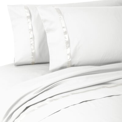 Kiley 400 Thread Count 100% Cotton Sheet Set Size: King, Color: White