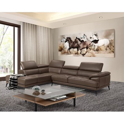 Stedman Leather Sectional Orientation: Left Hand Facing