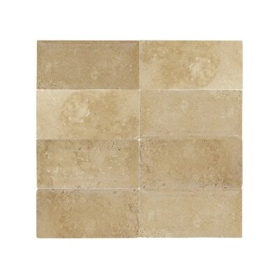 Mexican Travertin 3 x 6 Natural Stone Subway Tile in Travertino Caramel