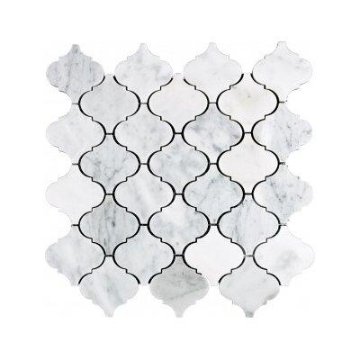12 x 12 Natural Stone Mosaic Tile in White Carrara
