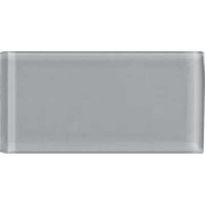 Shimmer 3 x 6 Glass Subway Tile in Smoke