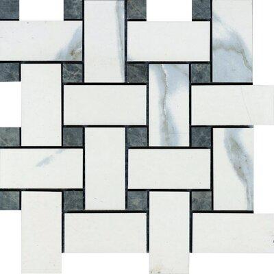 Versailles 12 x 12 Porcelain Mosaic Tile in Chateaux Ivoire