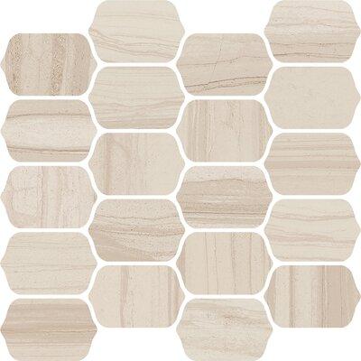 Burano 12 x 13 Ceramic Mosaic Tile in Sabbia Mezzo