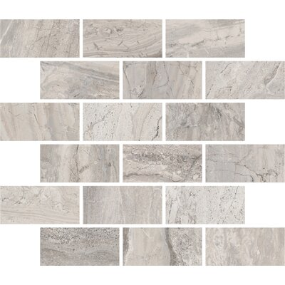 Amalfi 11.5 x 11.5 Ceramic Mosaic Tile in Bianco Scala