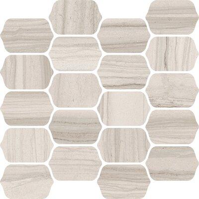Burano 12 x 13 Ceramic Mosaic Tile in Bianco Valetta